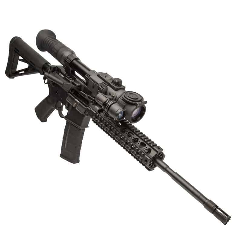 a black rifle