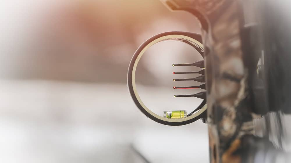 Close-up of bow sight