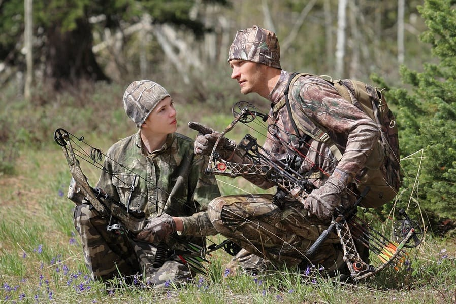 two bow hunters